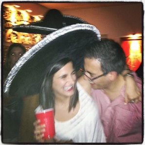 Mario and I at mariachi party