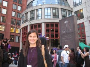 me outside of NYU Stern May 2008