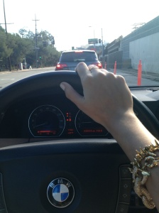 driving to the Getty Center