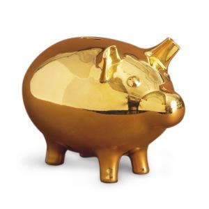 Jonathan Adler gold piggy bank