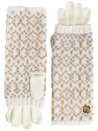 Fairisle Float Glove - Whisper white