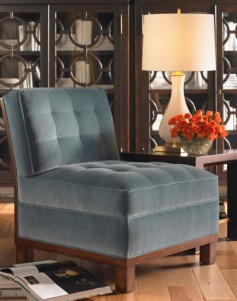 blue velvet contemporary-chairs