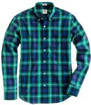 J Crew green_blue plaid shirt