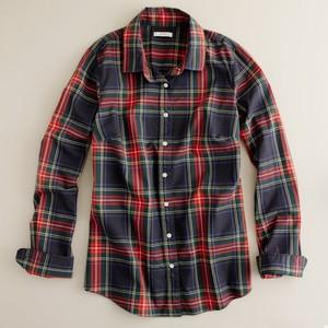 J. Crew perfect plaid shirt