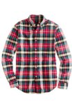 J Crew white_red plaid shirt