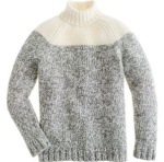 JCrew colorblock turtleneck sweater