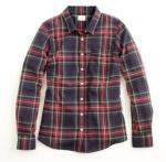 JCrew perfect plaid shirt