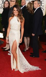 Lea Michele golden globes 2013