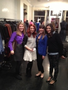 Maggie, Kait, and I with Alicia at Cynthia Rowley