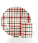 Martha Stewar plaid dishes