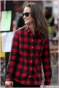 Pippa Middleton in plaid
