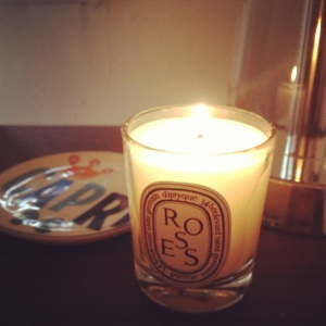 Roses Diptyque candle
