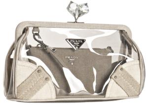 Clear Prada clutch