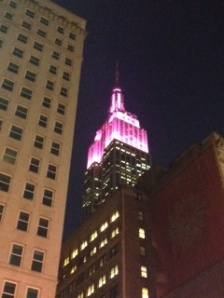 Empire State Building on Valentine's Day