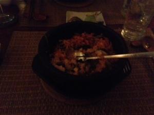 Hangawi kimchi stone bowl rice