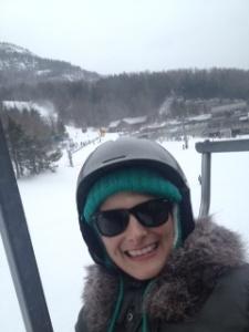 Me ski lift Whiteface Mountain
