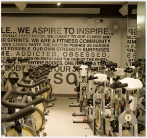 SoulCycle interior