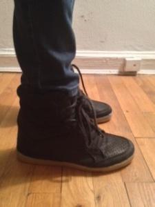 Topshop wedge sneakers