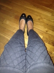 Zara moto jeans with Chanel flats
