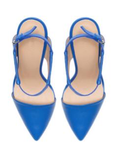 Zara pointed vamp heel top view