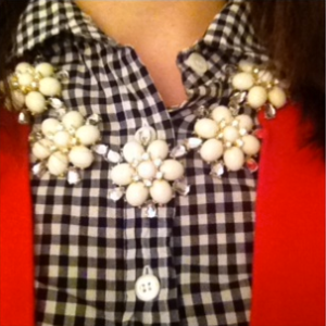 Anthropologie flower necklace