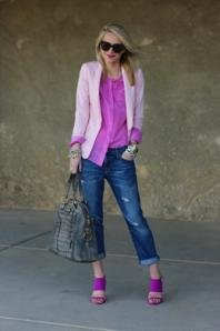 Atlantic Pacific boyfriend jeans pink