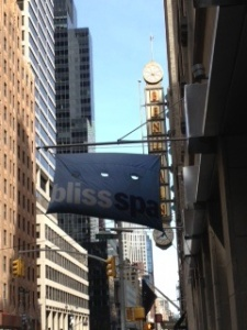 Bliss Spa 49th street sign