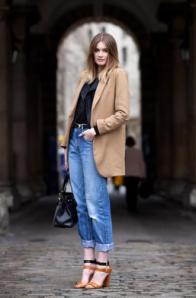 boyfriend jeans with coat