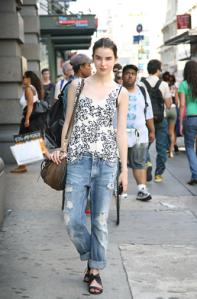 Elle NY street style boyfriend jeans
