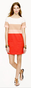 J. Crew colorblock shift dress