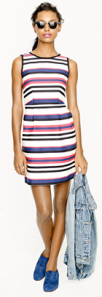 J. Crew multistripe dress