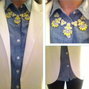 ootd chambray + leather