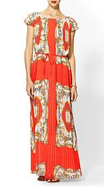 Sabine scarf print maxi dress