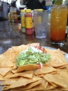 Tacombi guacamole and chips