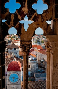 Trogir Croatia clocktower