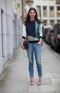 Who What Wear LFW boyfriend jeans street style