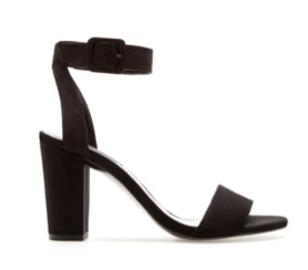 Zara mid heel sandal with ankle strap
