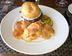 Colicchio & Sons burger and chips