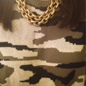 Forever21 cam sweather with J. Crew necklace