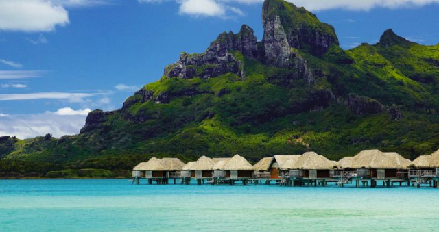 Four Seasons Bora Bora water bungalows