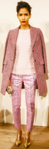 J. Crew monochromatic light pink