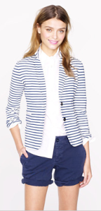 J. Crew striped maritime blazer