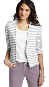 Loft striped blazer