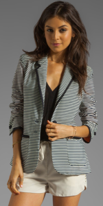 Lovers + Friends x Because I'm Addicted Striped Blazer