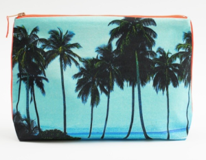 Maldives aqua palm pouch