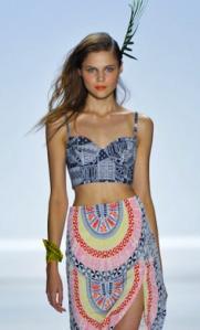 Mara Hoffman crop top and skirt