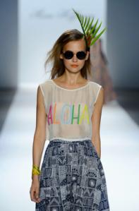 Mara Hoffman spring 2013 aloha shirt
