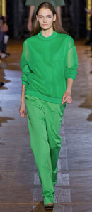 Stella McCartney monochromatic green