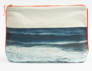 Tulum navy wave pouch