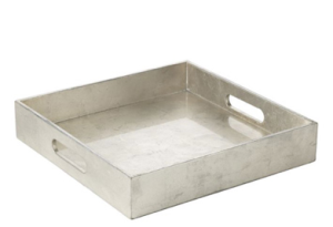 West Elm metallic silver tray